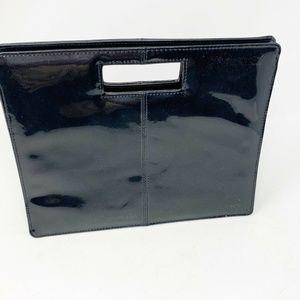 Nina Ricci black clutch patent leather purse